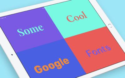30 καλύτερες γραμματοσειρές Google Web